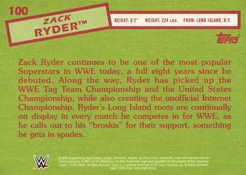 2015 Topps WWE Heritage Wrestling #100 Zack Ryder