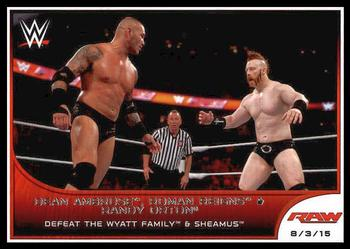 #70 Dean Ambrose /& Cesaro 2016 Topps WWE Road to Wreslemania