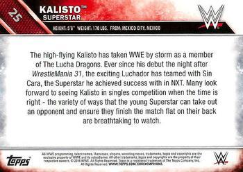 #36 Kalisto 2016 Topps WWE Road to Wreslemania