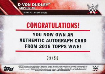2016 TOPPS WWE Wrestling bronze parallèle #17 D-von Dudley