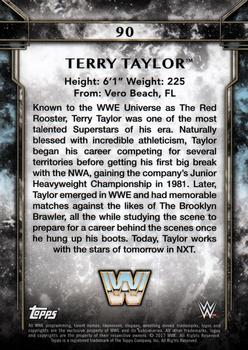 2017 Topps Legends of WWE #90 Terry Taylor Back