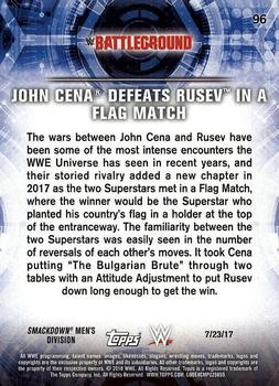 2018 Topps WWE Road to Wrestlemania #96  JOHN CENA