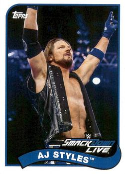 2018 Topps WWE Heritage #1 AJ Styles Front