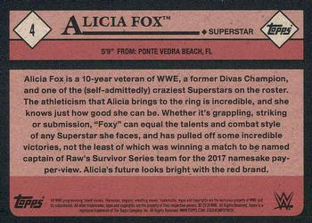2018 Topps WWE Heritage #4 Alicia Fox Back