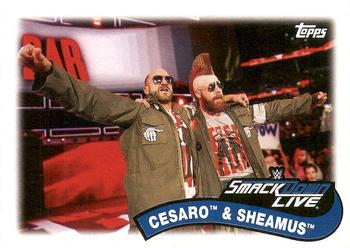 2018 Topps WWE Heritage - Tag Teams and Stables #TT-1 Cesaro / Sheamus Front