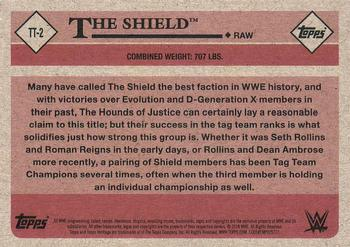 2018 Topps WWE Heritage - Tag Teams and Stables #TT-2 The Shield Back