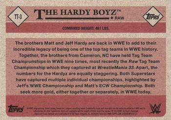 2018 Topps WWE Heritage - Tag Teams and Stables #TT-3 The Hardy Boyz Back