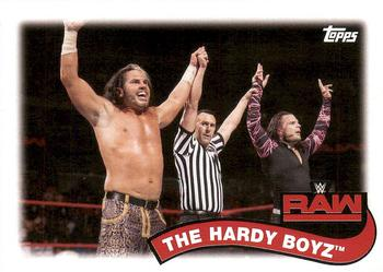 2018 Topps WWE Heritage - Tag Teams and Stables #TT-3 The Hardy Boyz Front
