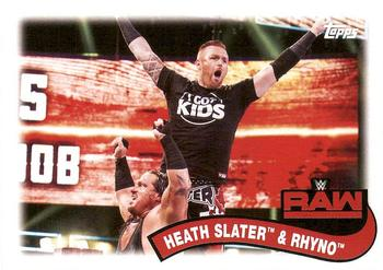 2018 Topps WWE Heritage - Tag Teams and Stables #TT-4 Heath Slater / Rhyno Front