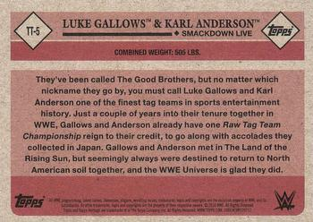 2018 Topps WWE Heritage - Tag Teams and Stables #TT-5 Luke Gallows / Karl Anderson Back