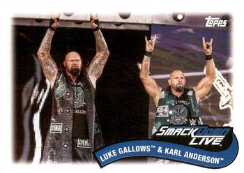 2018 Topps WWE Heritage - Tag Teams and Stables #TT-5 Luke Gallows / Karl Anderson Front