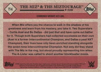 2018 Topps WWE Heritage - Tag Teams and Stables #TT-6 The Miz / The Miztourage Back