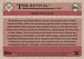 2018 Topps WWE Heritage - Tag Teams and Stables #TT-7 The Revival Back