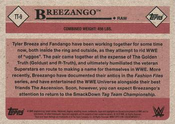 2018 Topps WWE Heritage - Tag Teams and Stables #TT-9 Breezango Back