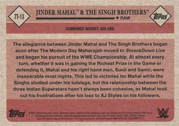 2018 Topps WWE Heritage - Tag Teams and Stables #TT-13 Jinder Mahal / The Singh Brothers Back