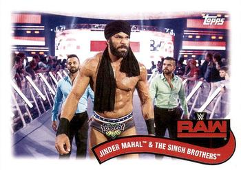 2018 Topps WWE Heritage - Tag Teams and Stables #TT-13 Jinder Mahal / The Singh Brothers Front