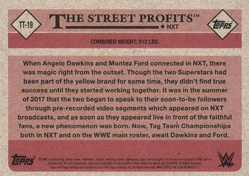 2018 Topps WWE Heritage - Tag Teams and Stables #TT-19 The Street Profits Back
