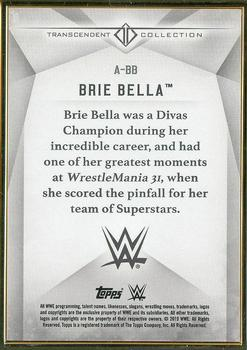 2019 Topps WWE Transcendent Collection #A-BB Brie Bella Back