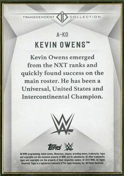 2019 Topps WWE Transcendent Collection #A-KO Kevin Owens Back
