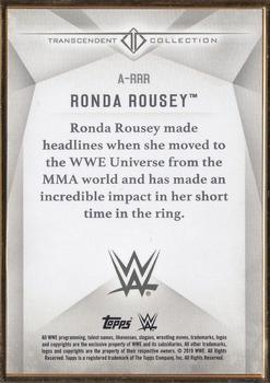 2019 Topps WWE Transcendent Collection #A-RRR Ronda Rousey Back