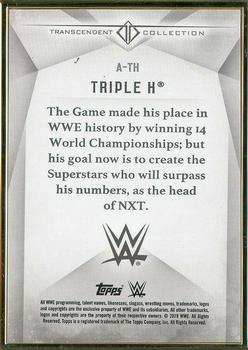 2019 Topps WWE Transcendent Collection #A-TH Triple H Back
