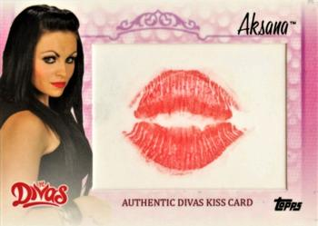 2013 Topps WWE - Diva Kiss Relics #NNO Aksana Front