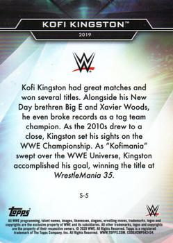 2020 Topps WWE Finest - Decade's Finest Superstars #S-5 Kofi Kingston Back