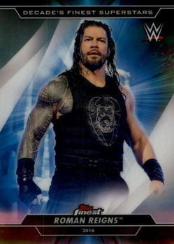 2020 Topps WWE Finest - Decade's Finest Superstars #S-7 Roman Reigns Front