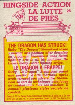 1985 O-Pee-Chee WWF Series 2 #26 The Dragon Has Struck! Back