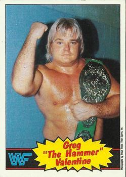 Perfekt 1985 Topps WWF #9 Greg