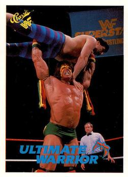 1990 Classic WWF #43 The Ultimate Warrior Front