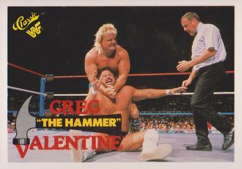 1990 Classic WWF #86 Greg The Hammer Valentine