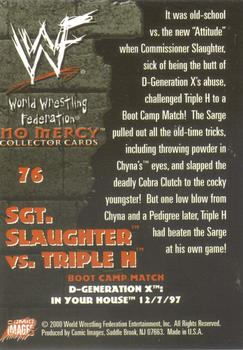 2000 Comic Images WWF No Mercy #76 Sgt. Slaughter/Triple H  Back