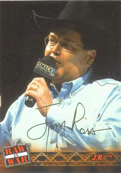 2001 Fleer WWF Raw Is War #8 Jim Ross  Front