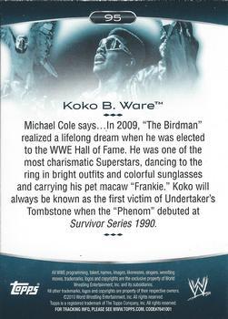 Ware #31 Wwe Heritage 2015 Topps Trading Card Koko B
