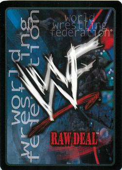 2001 Comic Images WWF Raw Deal: Fully Loaded #13 Backhand Slap Back