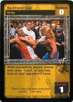 2001 Comic Images WWF Raw Deal: Fully Loaded #13 Backhand Slap Front