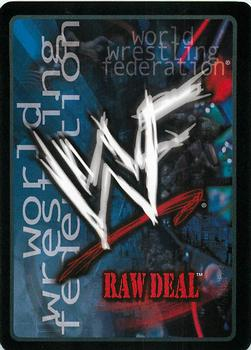 2001 Comic Images WWF Raw Deal: Fully Loaded #14 Turnbuckle Smash Back