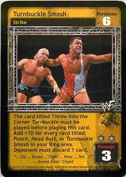 2001 Comic Images WWF Raw Deal: Fully Loaded #14 Turnbuckle Smash Front