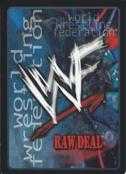 2000 Comic Images WWF Raw Deal #51 Arm Bar Back