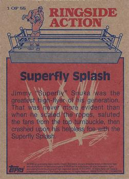 2012 Topps WWE Heritage - Ringside Action #1 Jimmy Superfly Snuka/Superfly Splash Back