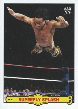2012 Topps WWE Heritage - Ringside Action #1 Jimmy Superfly Snuka/Superfly Splash Front