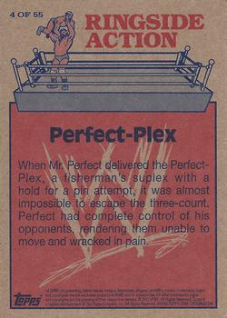 2012 Topps WWE Heritage - Ringside Action #4 Mr. Perfect/Perfect-Plex Back