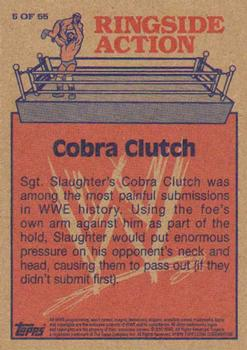2012 Topps WWE Heritage - Ringside Action #5 Sgt. Slaughter/Cobra Clutch Back