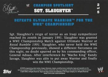 Sgt Slaughter 2015 Topps WWE Undisputed Card # 89