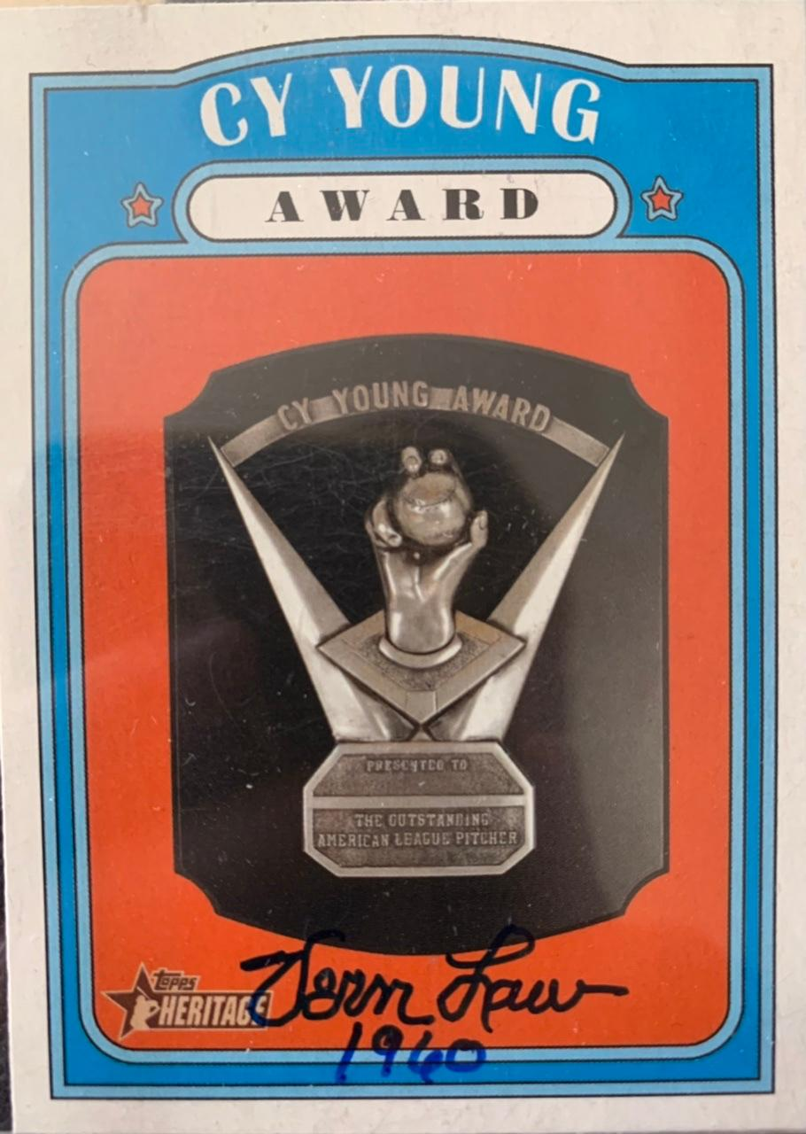 2021 Topps Heritage #365 Cy Young Award Front