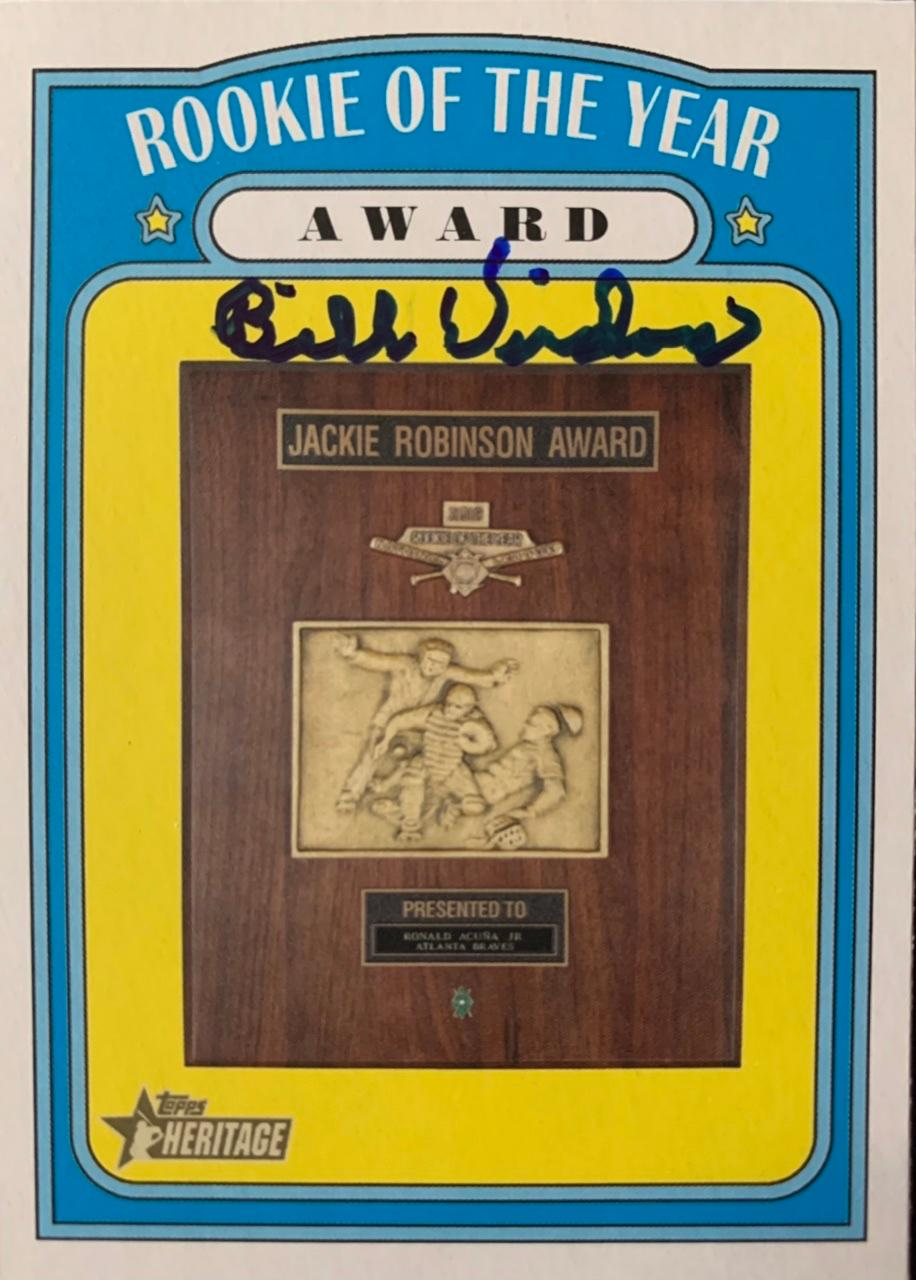 2021 Topps Heritage #368 Rookie of the Year Award Front