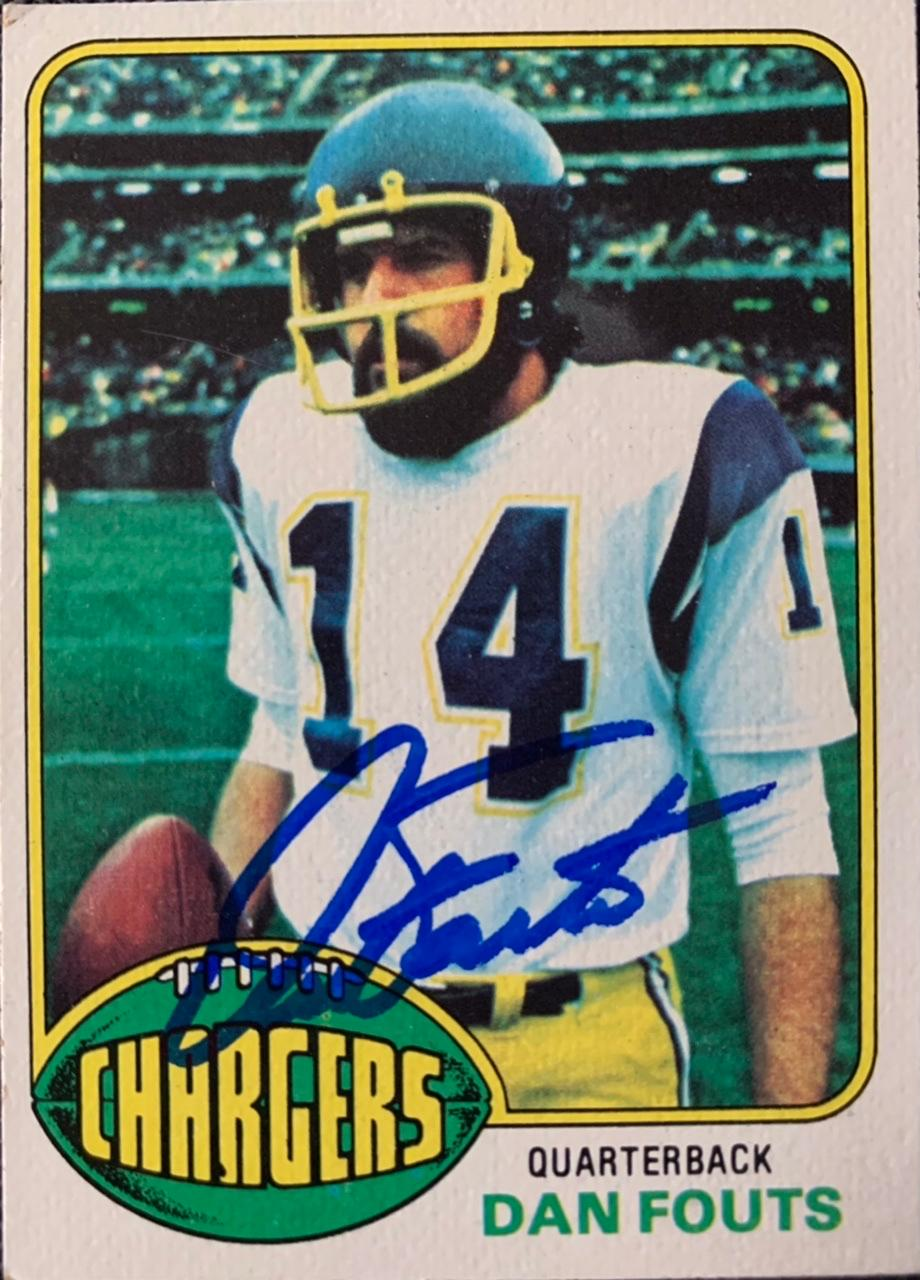 1976 Topps #128 Dan Fouts Front