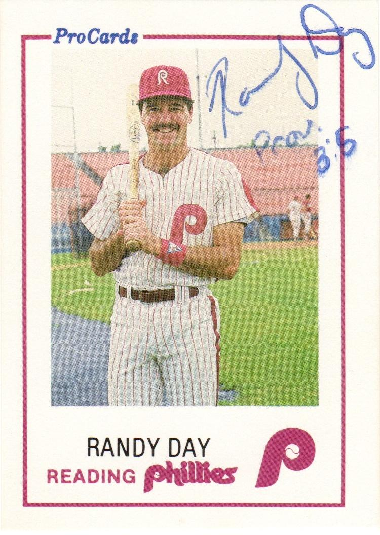 1985 ProCards Reading Phillies #2 Randy Day Front