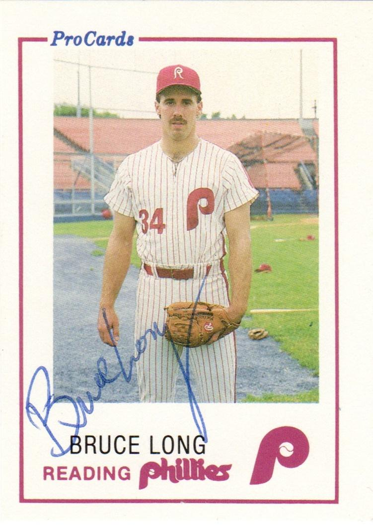 1985 ProCards Reading Phillies #4 Bruce Long Front